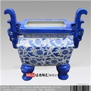 供应景泓陶瓷ert1459陶瓷瓷鼎 礼品陶瓷瓷鼎