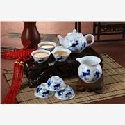 景德镇大茶盘茶具   过年送礼陶瓷茶具