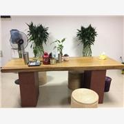 巴西黄花梨木大板桌 红木平板办公桌 供应花木兰木雕12-13安东花梨木大板桌