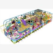 供应136平方缤纷系列淘气堡儿童乐园电动玩具尚派儿品牌