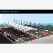 广西停车棚膜结构,广西景观膜结构