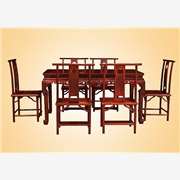 正宗红酸枝红木餐桌椅 实木餐桌