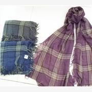 供应涤粘色织围巾