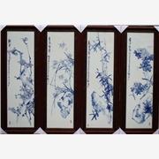 供应景泓陶瓷sdf48高温烧制的瓷板画 青花瓷瓷版画高档礼品