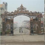 菏泽市城镇仿古牌坊门,威武的惠民仿古城镇石雕牌楼