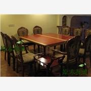 供应原木根雕红花梨非洲红花梨实木原木大板餐桌书桌办公桌会议