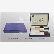 佲扬专业生产亮光烤漆人造石色卡盒/木盒/蓝色石英石色卡盒