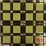 玻璃化工容器 产品汇 供应金黄玻璃马赛克.豪宅装饰电视背景墙