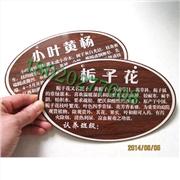 加工植物标牌、树木标牌、树木简介铭牌