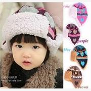 2013新款童帽 秋冬保暖护耳帽 儿童雷锋帽 宝宝翻耳红心飞行帽