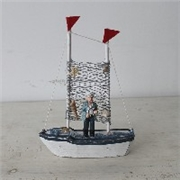 福州家居饰品摆件 地中海实木摆件 木质仿古海洋帆船