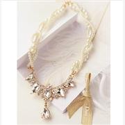 供应宝石铆钉珍珠多层项链