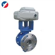 供应精卫泵阀VQ940电动V法兰型球阀