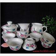 供应德化玉瓷10头玉瓷陶瓷茶具 茶具套