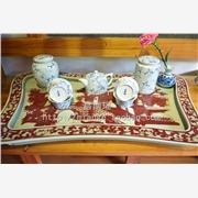 供应昌南瑶大茶盘家居装饰手绘陶瓷大茶盘定做批发