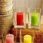 玻璃方缸 水培花盆 花瓶  蜡烛台 方杯