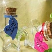 琳琅玻璃制品公司供应超低价的五角星许愿瓶