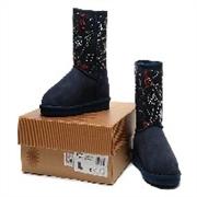 2014爆款厂家直销UGG1003503雪地靴镶钻美女图深蓝