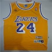 14专柜正版型NBA科比湖人24号复古黄色网眼一比一球衣厂家