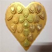 供销价格划算的食品吸塑包装,PVC金色心形巧克力食品吸塑包装专卖店