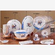 供应鑫腾陶瓷56头陶瓷餐具,高档礼品餐具厂家