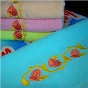 供应绣花毛巾