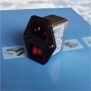 带指示灯开关三合一滤波器6A,10A,220V厂家直销
