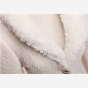 供应星火呢绒A005白色羊绒女式大衣尼/白色羊圈呢秋冬面料