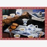 供应景德镇大茶盘茶具 双龙戏珠陶瓷茶