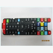 供应十二种颜色的遥控器硅胶按键 多色