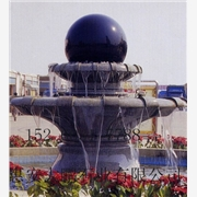 供应石雕风水球喷泉,黄锈石喷水池,欧式喷泉雕刻
