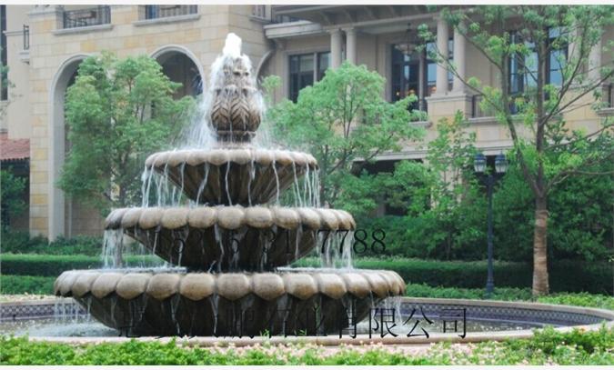 欧式喷泉喷水池石雕,跌水盘石雕流水