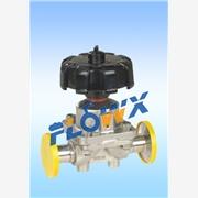 意大利气动隔膜阀 卫生级卡箍隔膜阀 气动铸铁衬胶隔膜阀