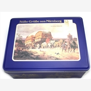 古典图案的饼干盒 新品上市饼干铁盒 环保饼干包装盒