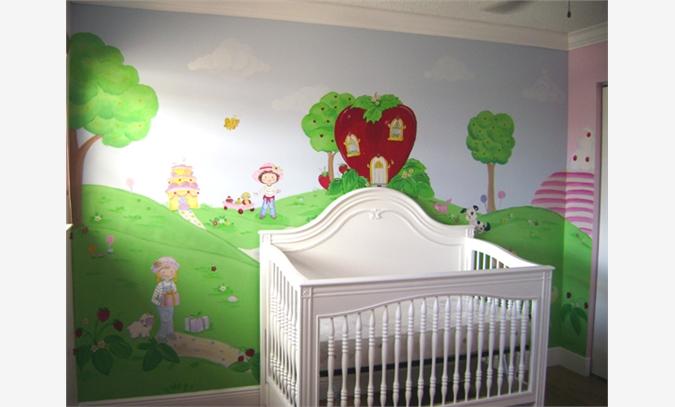 手绘墙画 家装墙体彩绘