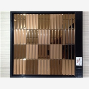 供应长条镜面马赛克.欧式精美背景墙.玻璃瓷砖贴