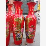 供应1.8米红瓷陶瓷大花瓶 招财用品陶瓷大花瓶厂家直销