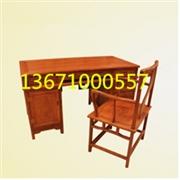 花梨木课桌|红木雕龙办公桌|民国花梨木办公台