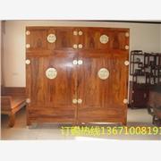 素面独板衣柜丨酸枝储物柜丨实木四门大衣柜丨实木柜子价格