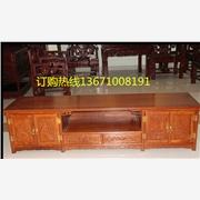 古典红木家具丨花梨电视柜丨客厅雕花电视柜丨北京古典落地柜
