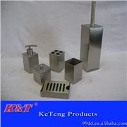 供应K&T1不锈钢卫浴洁具洗刷用具四方卫浴套