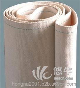 供应鸿纳003白色工业帆布带耐高温食品输送带