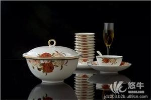 供应嘉仕凡cj001001欧式骨瓷套装 景德镇陶瓷餐具礼品