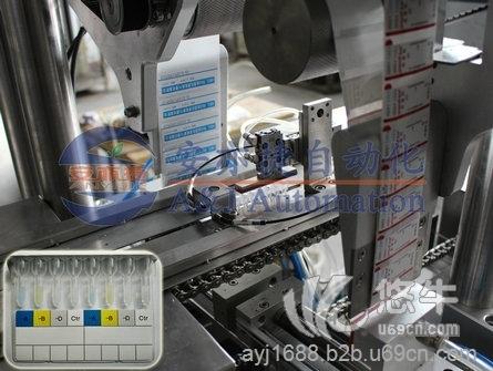 微柱凝胶卡双面贴标机 微柱凝胶卡