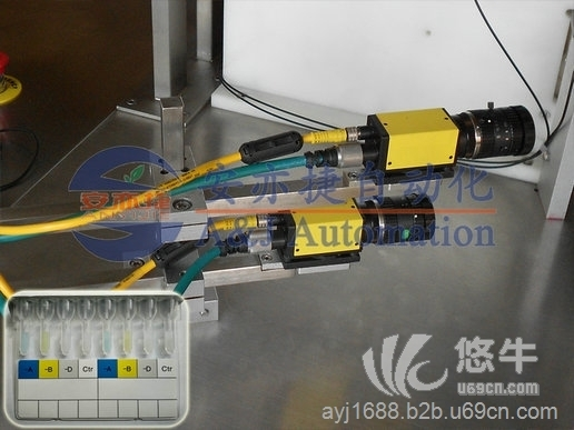 微柱凝胶卡在线检测及剔除不良品系