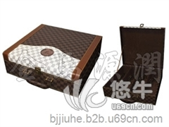 供应金马源潤JM5205新品豪华四只装皮酒盒