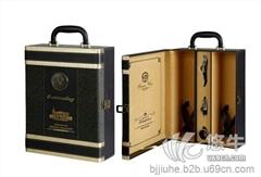 供应金马JM5008B黑色双支皮盒