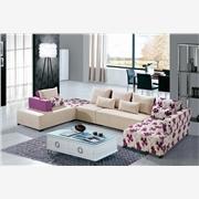 供应钰门麻布布艺沙发 可拆洗组合式转角沙发套装(多色可选)
