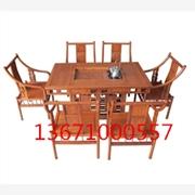 红酸枝如意茶桌|老挝酸枝茶桌|酸枝办公茶桌|酸枝大板茶桌