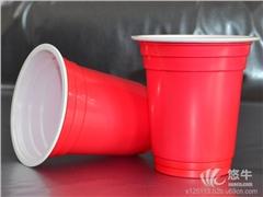 供应万瑞pc-36rps红白双色12oz一次性塑料杯